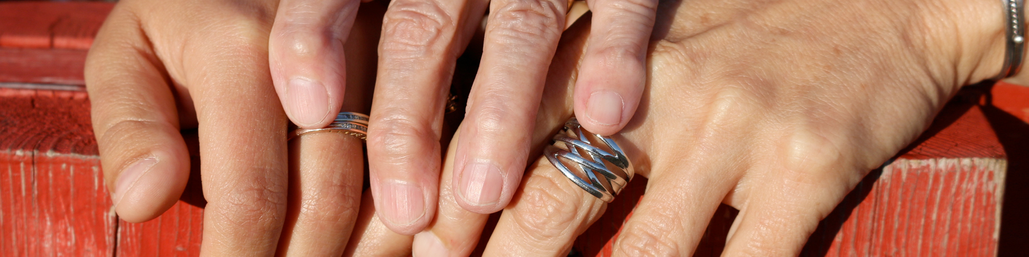 Young and elderly hands
