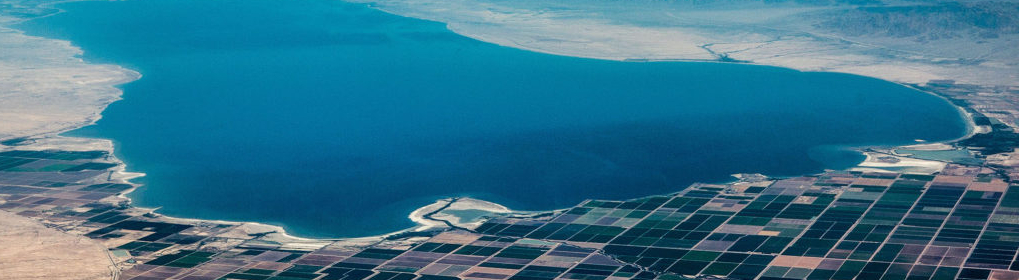aerial view of transborder water