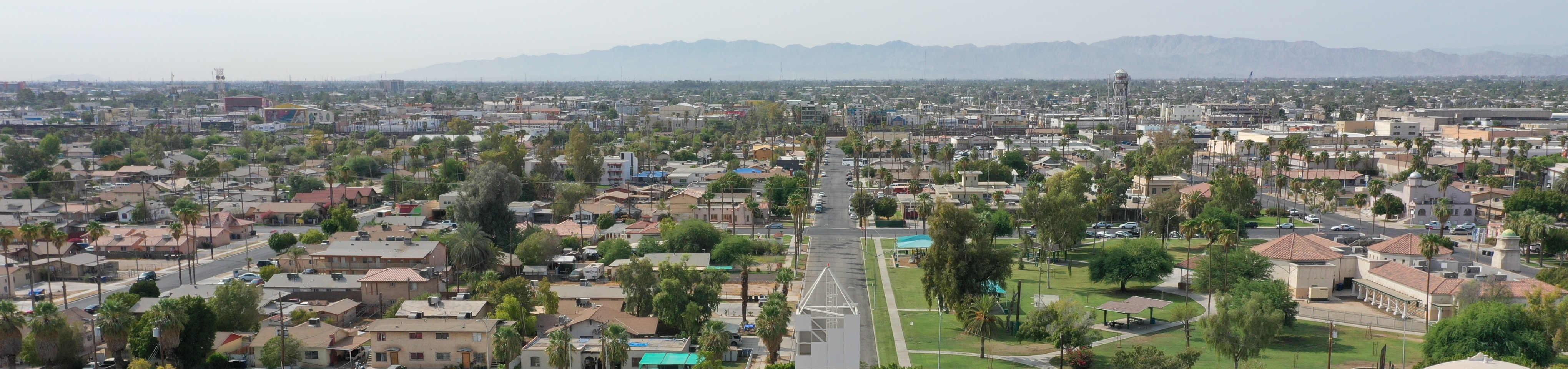 aerial view of imperial valley